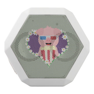 Cinema Pig with flower heart Zvf1w White Bluetooth Speaker