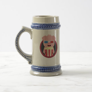 Cinema Pig with Popcorn Zpm09 Beer Stein