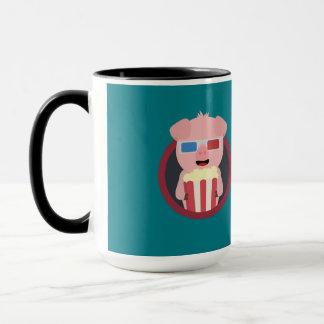 Cinema Pig with Popcorn Zpm09 Mug