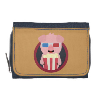Cinema Pig with Popcorn Zpm09 Wallets