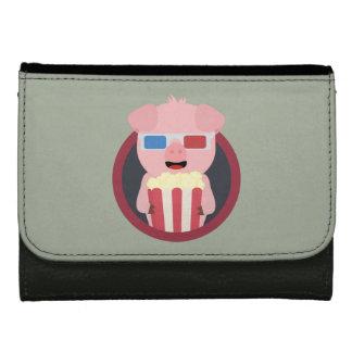 Cinema Pig with Popcorn Zpm09 Women's Wallet