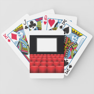 cinema screen bicycle playing cards