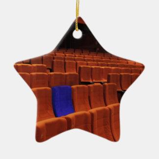 Cinema theater blue seat individual ceramic star ornament