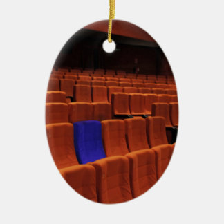 Cinema theater blue seat individual ornaments