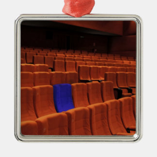 Cinema theater blue seat individual christmas tree ornaments