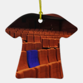 Cinema theater blue seat individual christmas ornaments
