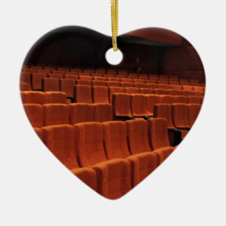 Cinema theater stage seats christmas tree ornament