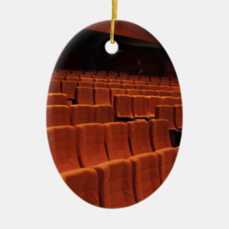 Cinema theater stage seats christmas ornaments
