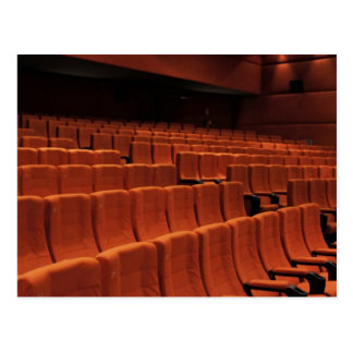 Cinema theater stage seats postcard