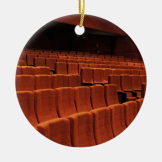Cinema theater stage seats round ceramic ornament