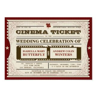 Cinema Ticket - Wedding Invitation