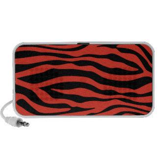 Cinnabar Color Zebra Stripes Animal Print iPhone Speakers