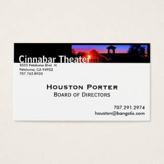 Cinnabar Theater Board of Directors Business Card