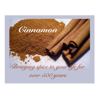 Cinnamon: adding spice to your life... postcard