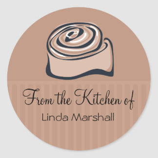 Cinnamon Bun From the Kitchen Of Baking Classic Round Sticker