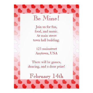 Cinnamon Candy Hearts Red and Pink Customized Letterhead