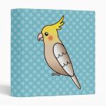 Cinnamon Cartoon Cockatiel Parrot Bird Vinyl Binder