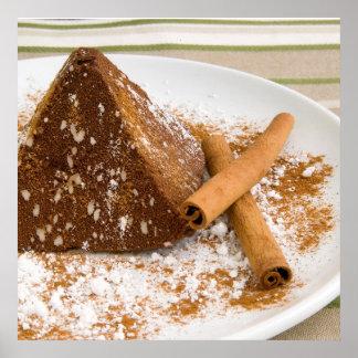 Cinnamon Chocolate Cake Dessert Poster