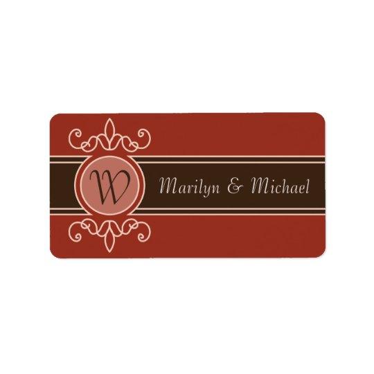 Cinnamon Classic Harvest Wedding Labels
