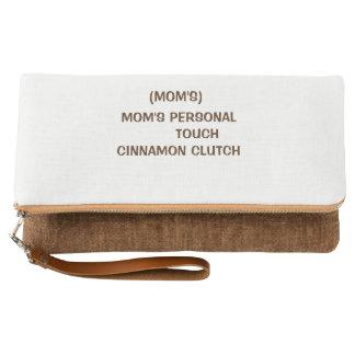 Cinnamon fold over clutch
