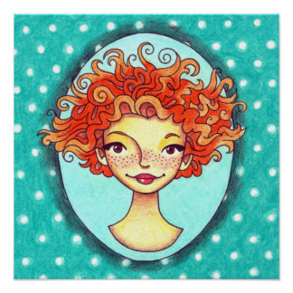 Cinnamon Frizz Design Logo Poster (no text)