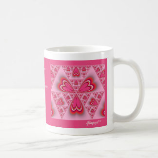 Cinnamon Hearts Abstract Mug