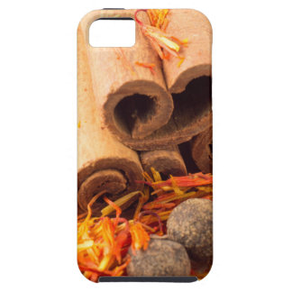 Cinnamon, peppercorn and saffron close-up iPhone 5 covers