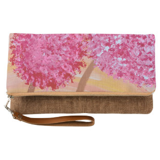 Cinnamon, Pink, and Yellow Fold-Over Clutch
