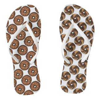 Cinnamon Raisin Marble Rye Bagels Bagel Food Print Flip Flops
