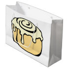 Cinnamon Roll Cartoon Design Large Gift Bag