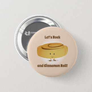 Cinnamon Roll Character | Button