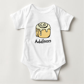 Cinnamon Roll Honey Bun Cute Cartoon Personalized Baby Bodysuit