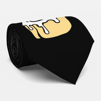 Cinnamon Roll Honey Bun Funny Cartoon Black Tie