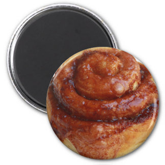 Cinnamon Roll Paper Plate 2 Inch Round Magnet