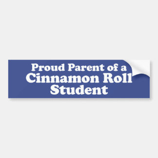 Cinnamon Roll Student Bumper Sticker