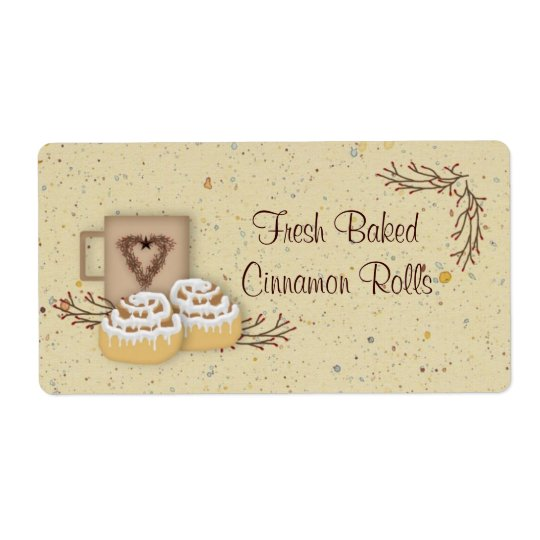 Cinnamon Rolls Label Shipping Label