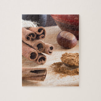 Cinnamon sticks and powder jigsaw puzzle