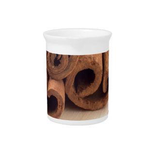 Cinnamon sticks, aromatic saffron and pimento drink pitchers
