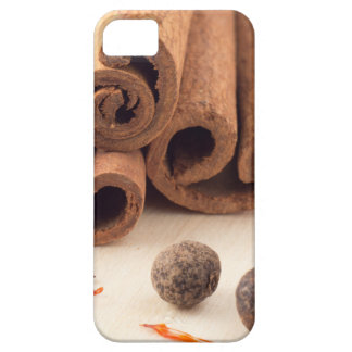 Cinnamon sticks, aromatic saffron and pimento iPhone 5 cases