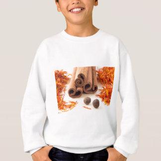 Cinnamon sticks, aromatic saffron and pimento sweatshirt