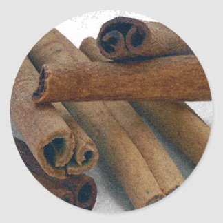 Cinnamon Sticks Classic Round Sticker