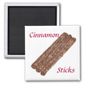 Cinnamon Sticks Square Magnet