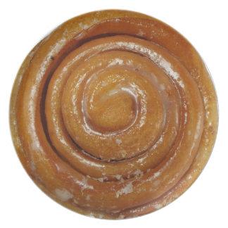 Cinnamon Swirl Glazed Donut - Full sized Dinner Plate