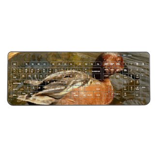 Cinnamon Teal Duck Bird Animal Wireless Keyboard