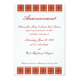 Cinnamon Wedding Invitation