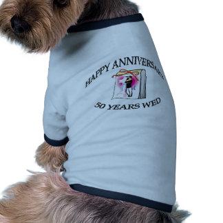 cinquantième. ANNIVERSAIRE Vêtement Pour Animal Domestique