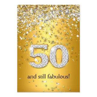 Cinquantième anniversaire fabuleux de 50 flammes carton d'invitation  12,7 cm x 17,78 cm