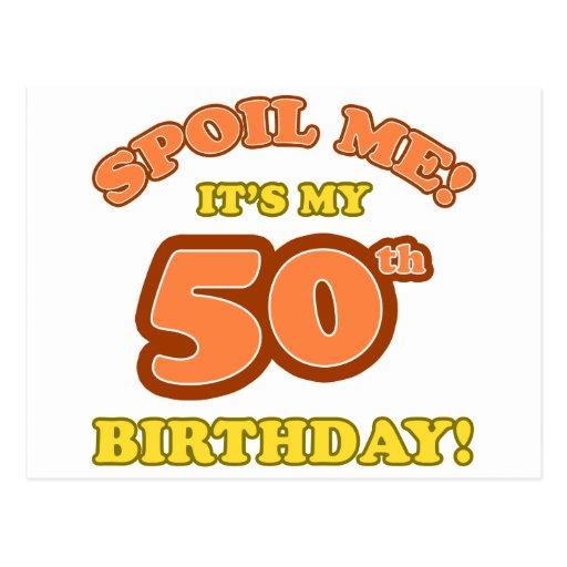 Cinquantième cadeau d'anniversaire idiot carte postale