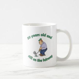 cinquantième Cadeau de bâillon de golfeur d'annive Tasse À Café