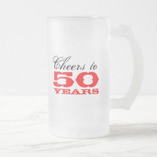 cinquantième Cadeau de tasse de bière d'anniversai